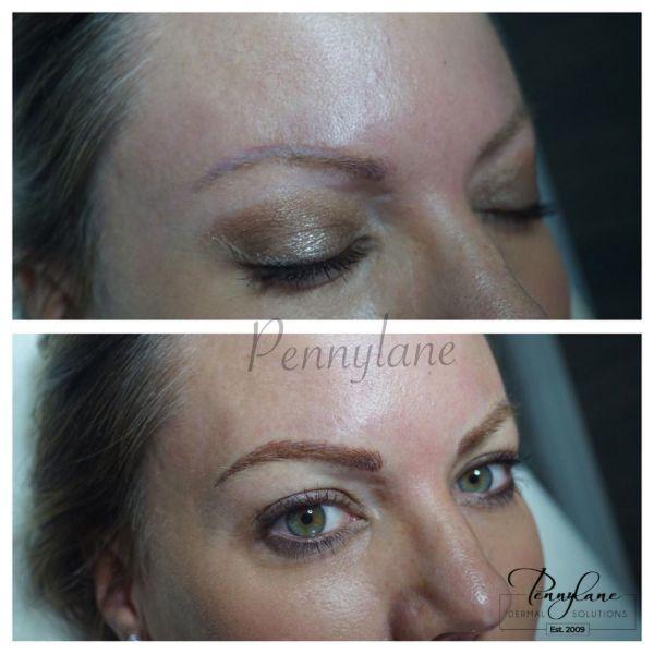 permanent makeup - eyebrows microblading correction