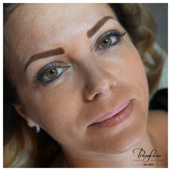 permanent makeup - eyebrows microblading